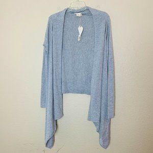 Mystree Gray Wrap Cardigan Sweater
